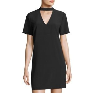 Philosophy choker-collar crepe dress